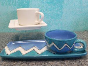 soup and sandwich set plate and mug