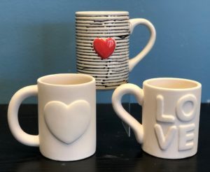 heart mugs for sweet drinks