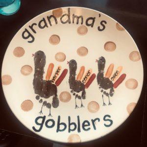 Grandma's Gobblers handprint platter