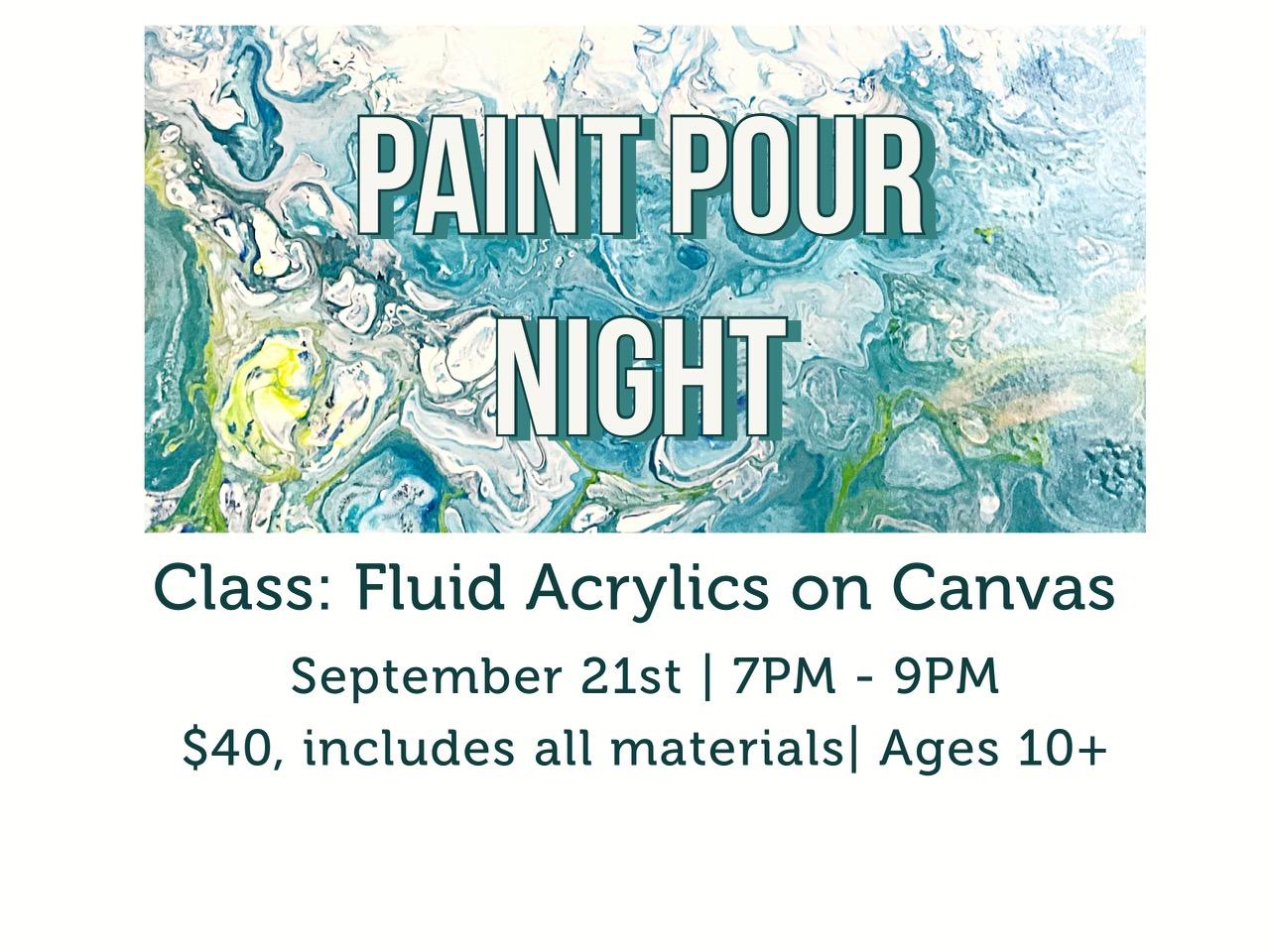 Paint Pour Night